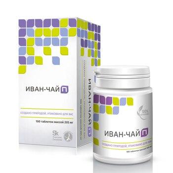 Ivan-tea p 100 tablets (Cyprus narrow), vitamins A, C, B1, B3, b5, B6 and PP, calcium, iron, zinc, magnesium, potassium, sodium