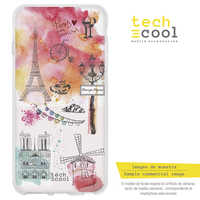 FunnyTech®Stand case for Meizu Silicone Mx6 Paris motifs