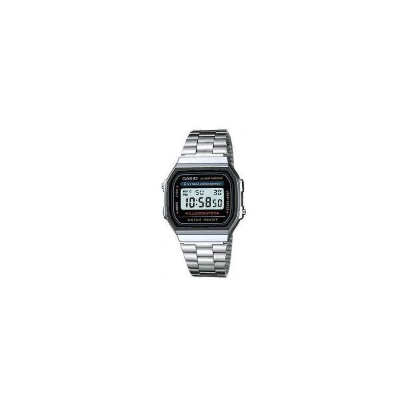 CASIO Watch Silver Retro Vintage A168WA Official