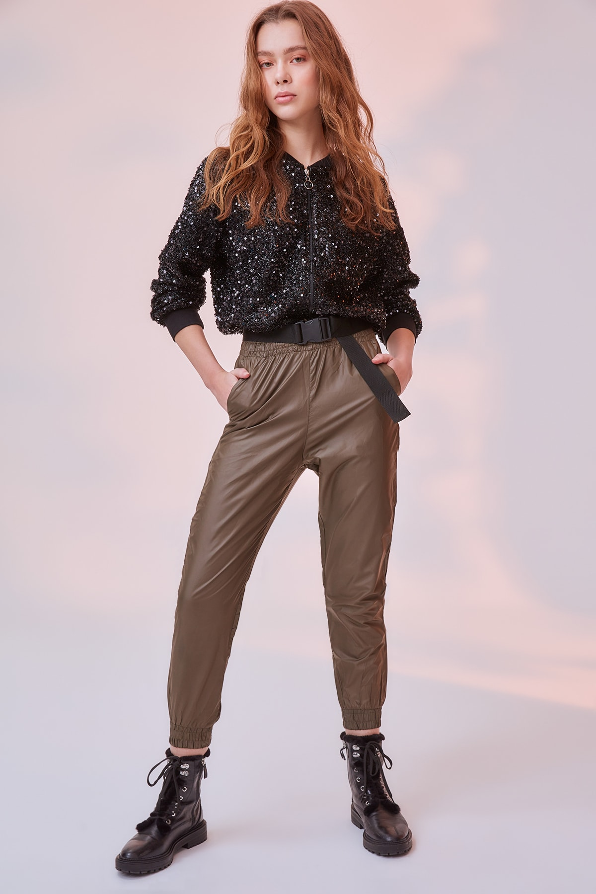 Trendyol Beli Elasticized Knit Sweatpants TWOAW20EA0100|Running Pants|   - AliExpress