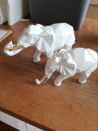 Elephant Resin Statue Twin-set photo review