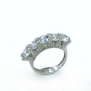 Бриллиантовое ювелирное изделие кубик Циркон Высокое качество Dibs серебряное кольцо
