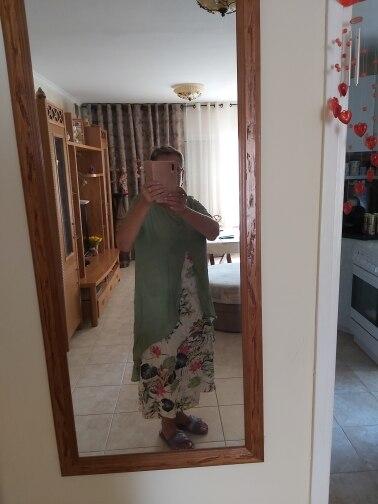 2021 ZANZEA Maxi Long Dress Autumn Summer Dress Women Polka Dot Print Patchwork SundressPleated Plus Size Sexy V Neck Vestidos reviews №1 508660