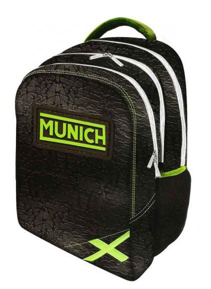 MUNICH Munich Backpack Texture 28x44x22,5CM And Portatodo Triple Munich Texture 22x12,5x1cm/21x11x1cm/19x9x1cm