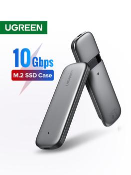 Ugreen-Obudowa dysku M 2 SSD z USB typ C 3 1 adapter z protokołem NVME PCIE i NGFF SATA klucz M B tanie i dobre opinie CN (pochodzenie) 1 8 Z aluminium CM238 2230 2242 2260 2280mm Support NVMe PCIE M2 SSD Support NGFF SATA M2 SSD 50cm Windows Mac OS Linux