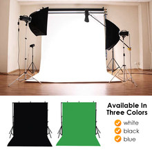 Foldable Backdrop Cloth Color polyester blended fabric Photo Background Studio Photography Screen Chromakey Black White Green(China)
