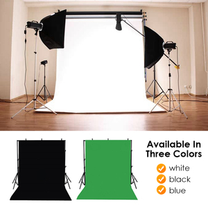 Foldable Backdrop Cloth Color polyester blended fabric Photo Background Studio Photography Screen Chromakey Black White Green