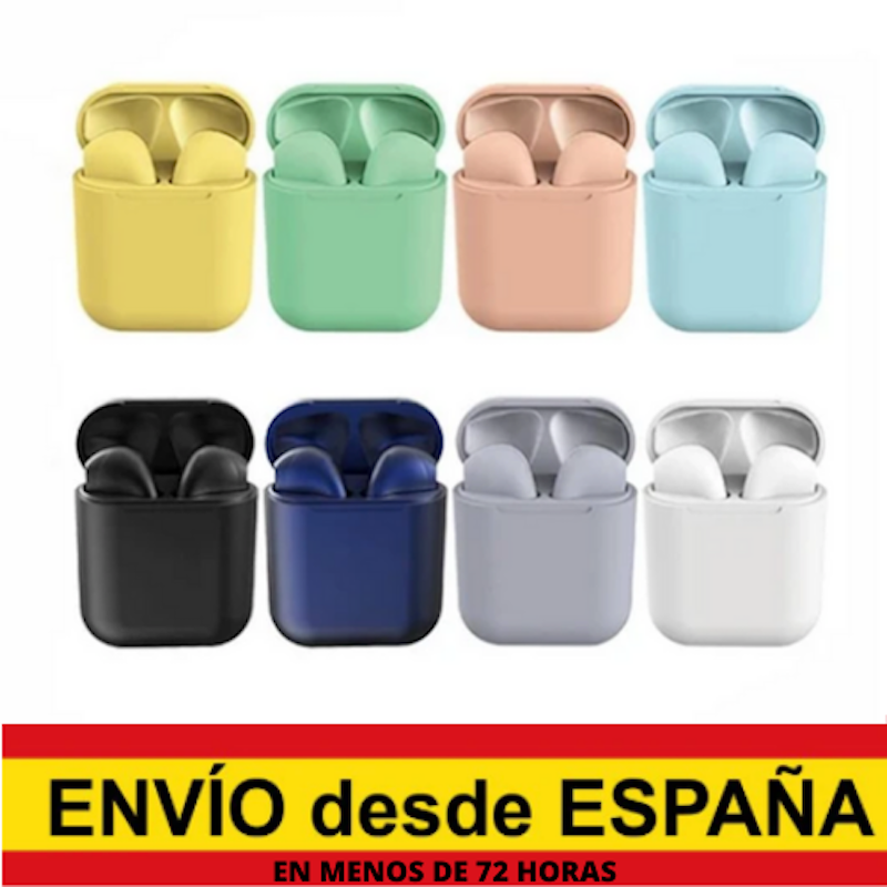 Inpods 12 Wireless Bluetooth Earphones Pastel Colors (8 Colors Available) Macaron Pink, Green, Yellow, Blue, Black