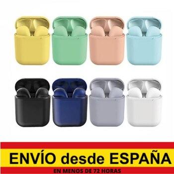 цена Inpods 12 Wireless Bluetooth earphones Pastel colors (8 colors available) Macaron pink, green, yellow, blue, Black онлайн в 2017 году