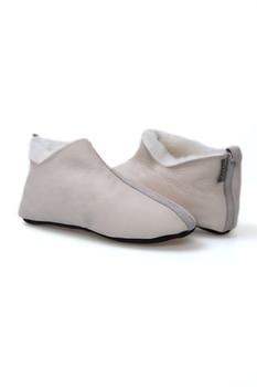 Pegia Genuine Fur Decorated Lady Home Shoe 980502