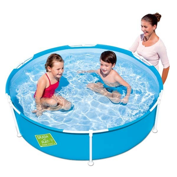 Children 'S Pool Round Metallic Structure 152x38 Cm.