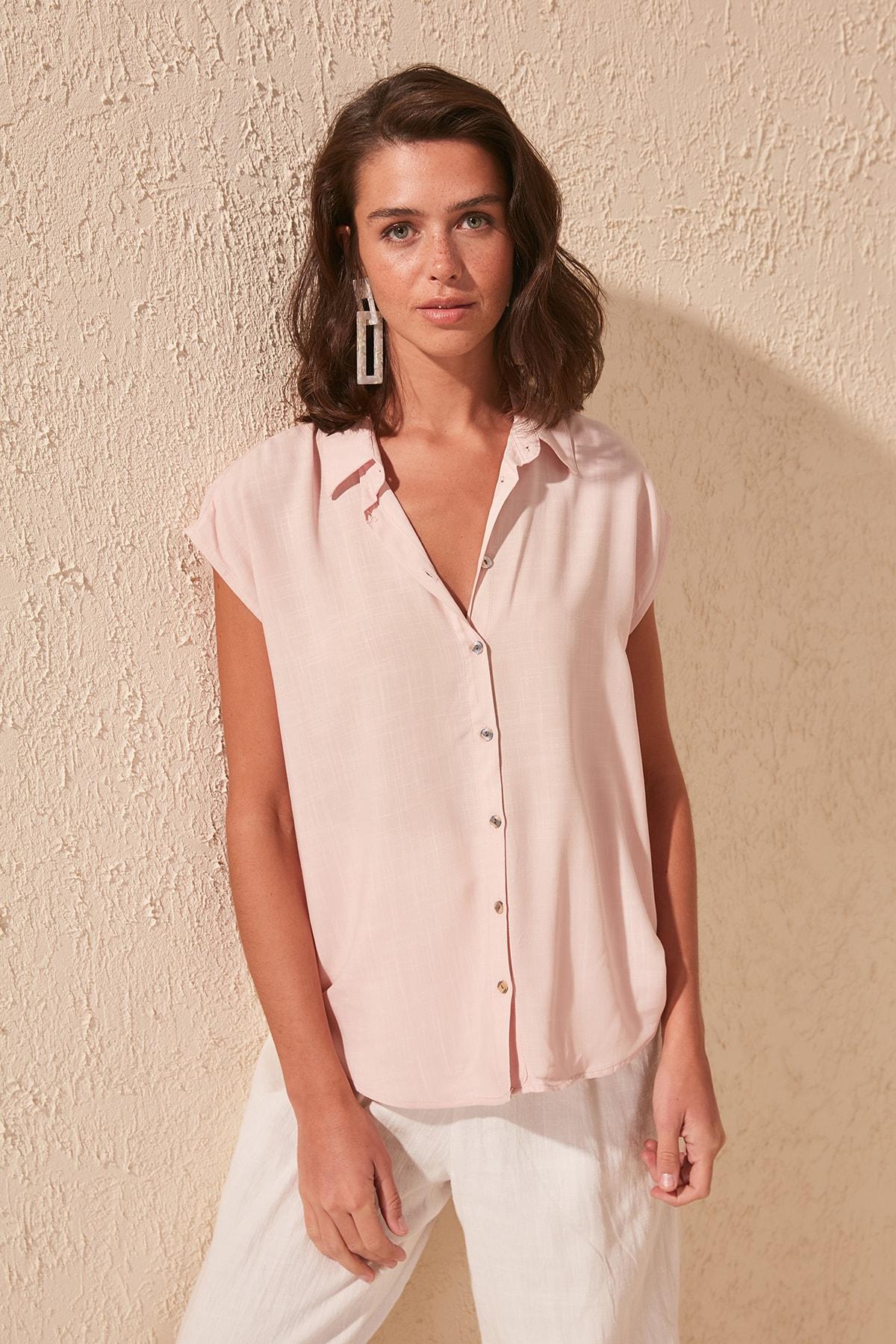 Trendyol Sleeveless Shirt TWOSS20GO0270