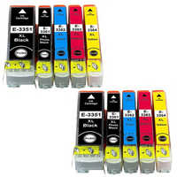 10 ink cartriges 33XL Model 33 XL T3351 T3361 T3362 T3363 T3371 Compatible with epson printers XP-530 XP-630 XP-635
