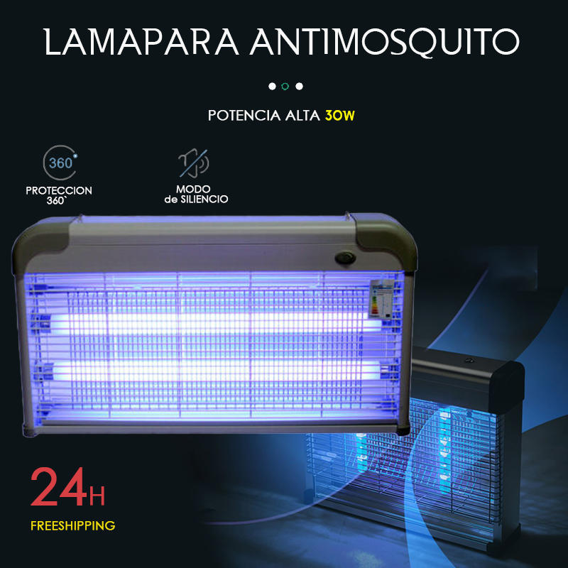 Antimoquito Lampada Della Zanzara Dell'assassino Della Zanzara 30W Lampada Presa Della Zanzara Bug Zapper Elettrico Insetto Killer