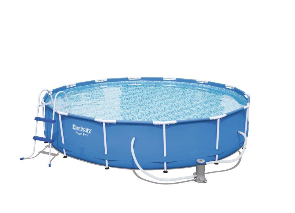 Scaffold Pool 427х 84 Cm Full Set (MAT, Tent, Ladder, Filter Pump 110-120 V.), Bestway