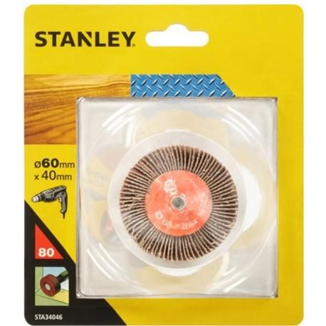 DRILL BRUSH SHEETS SANDPAPER 080X030MM GR80 STANLEY