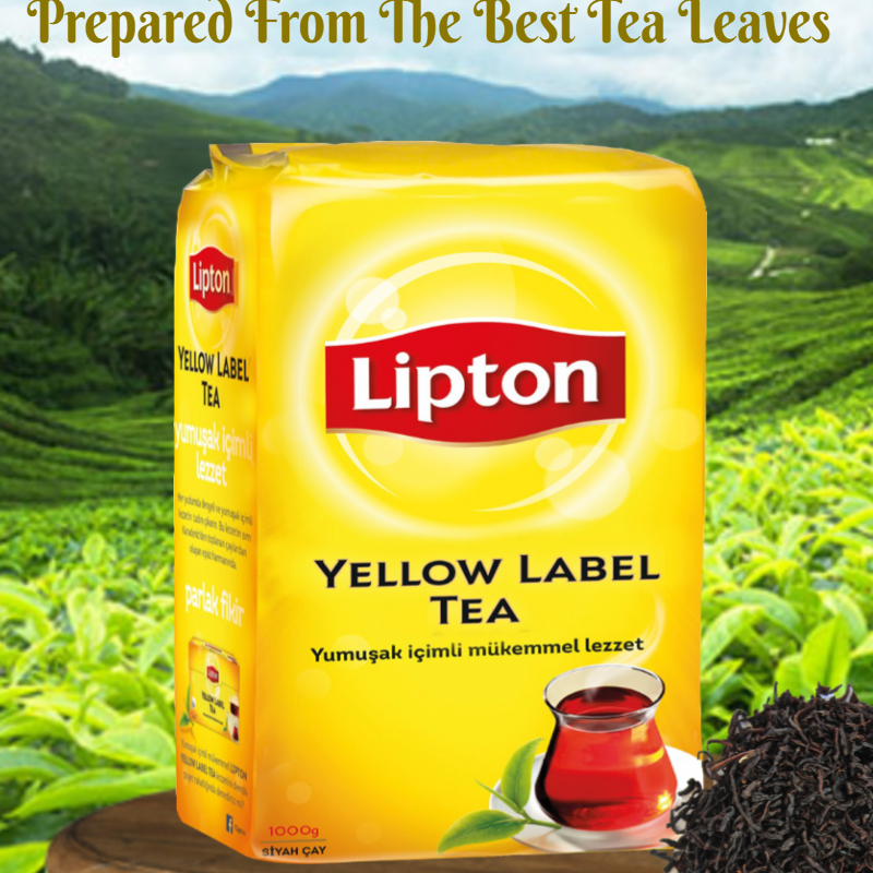 NEW ! 1500GR Lipton Yellow Label-Black Soft Drink TURKISH LEAF TEA -Best Quality Leaves Tea 500gr/1500gr -  FREE SHIPPING