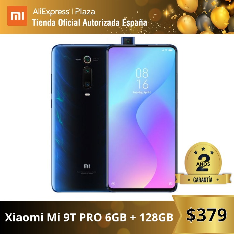 Global Version For Spain] Xiaomi Mi 9T PRO (Memoria Interna De 128GB, RAM De 6GB, Triple Cámara De 48 MP Con IA) Smartphone