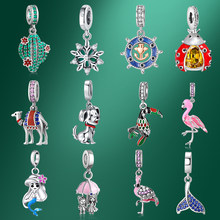 2021 New 925 Sterling Silver Charms Original Pendants for Jewelry Making Fashion Lucky Enamel Designer Pendant Charm Fine Beads