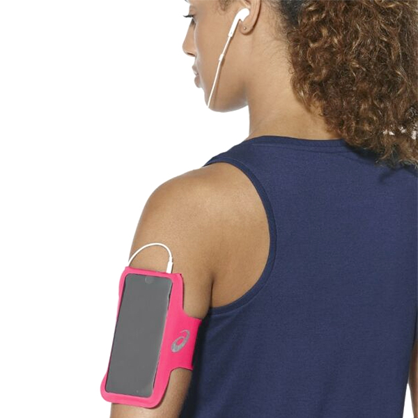 Sports Armband With Headphone Output Asics MP3 Arm Tube Pink