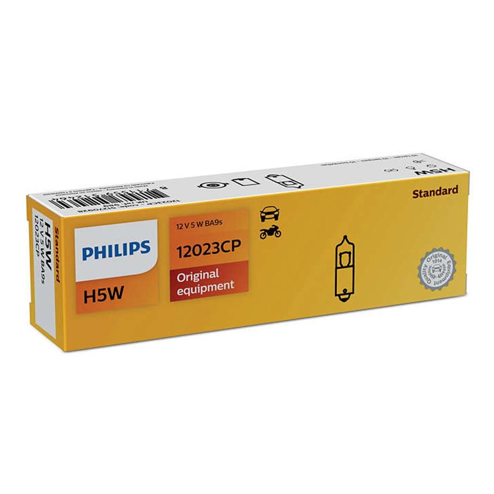 Philips 12023CP H5W 12V 5W BA9s original Lamp bulb Vision Standard lights interior lights car 10 PCs