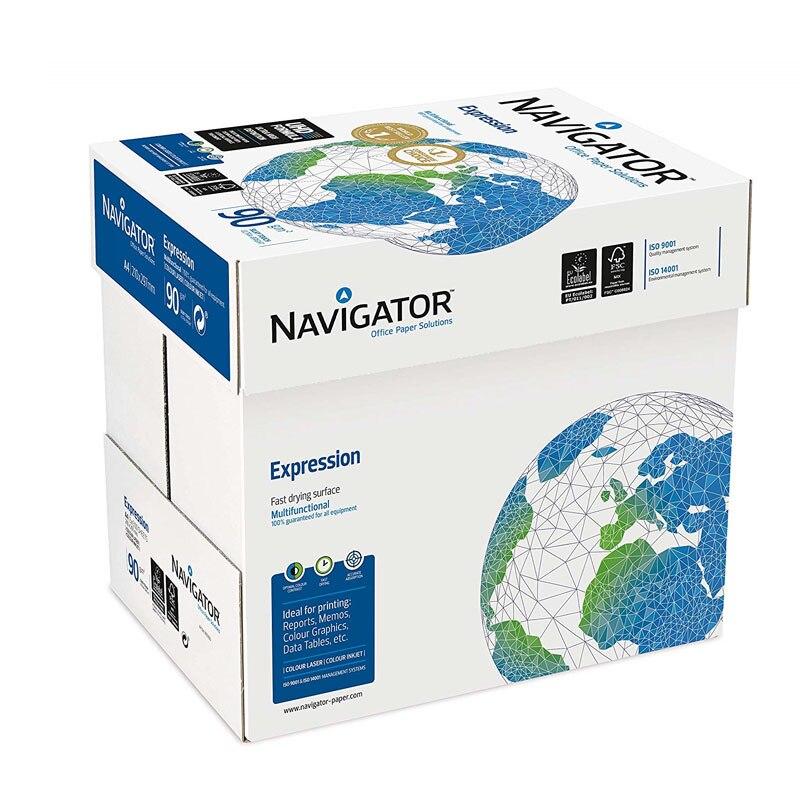 Navigator. 2500 Folios De Papel Para Impresora. Papel Para Impresora/fotocopiadora 90g/m² A4. Papel Multiusos. Papel De Oficina