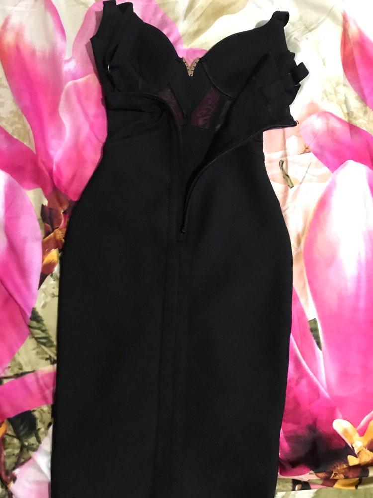 Ocstrade Summer Sexy Rayon Bandage Dress Arrivals Mesh Insert Women Bandage Dress Black Party Night Club Bodycon Dress photo review