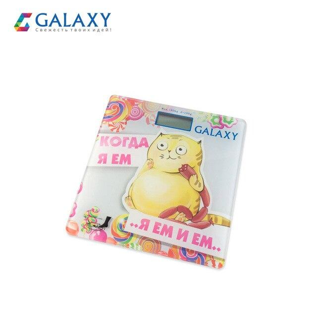 """Электронные напольные весы Galaxy GL 4830, максимально допустимый вес 180 кг, элемент питания """"CR2032"""" в комплекте"""