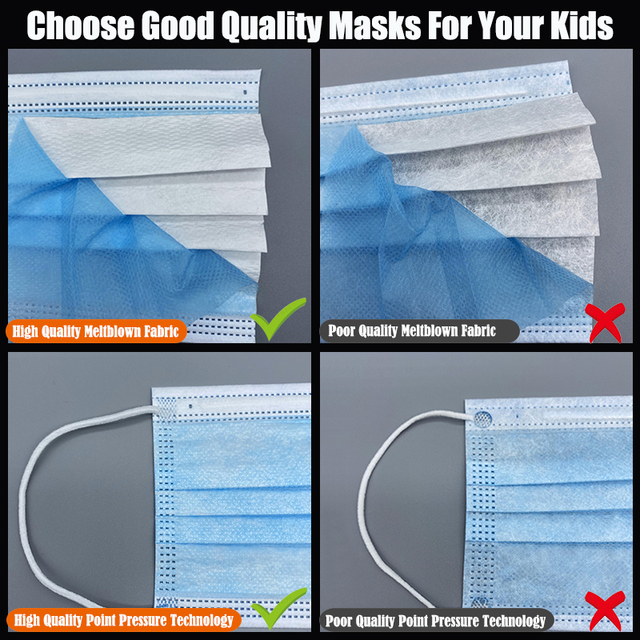 New Arrival  3-Layer Filter Kids Face Mouth Mask Disposable Mouth Mask Non-woven Breathable Child Face Masks 3