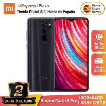 Redmi Note 8 Pro (64GB /128GB ROM con 6GB RAM Cámara de 64 MP Android Nuevo Móvil) [Teléfono Móvil Versión Global para España]
