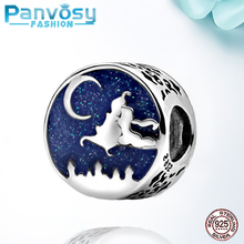 2020 Blue Sky Bead Sterling Silver 925 Bead Fit Pandora Charm Silver 925 Original Bracelet Round Shape Jewelry Making  DIY Gift цена 2017
