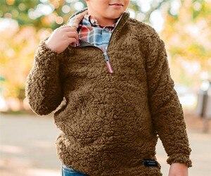 Image 4 - Детские пуловеры из искусственного меха; куртки для мальчиков и девочек; осенне зимние детские пальто