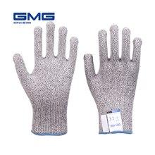 Hot Sales Cut Resistant Gloves GMG Grey Black HPPE EN388 Level 5 Work Safety Gloves Food Grade for Kitchen
