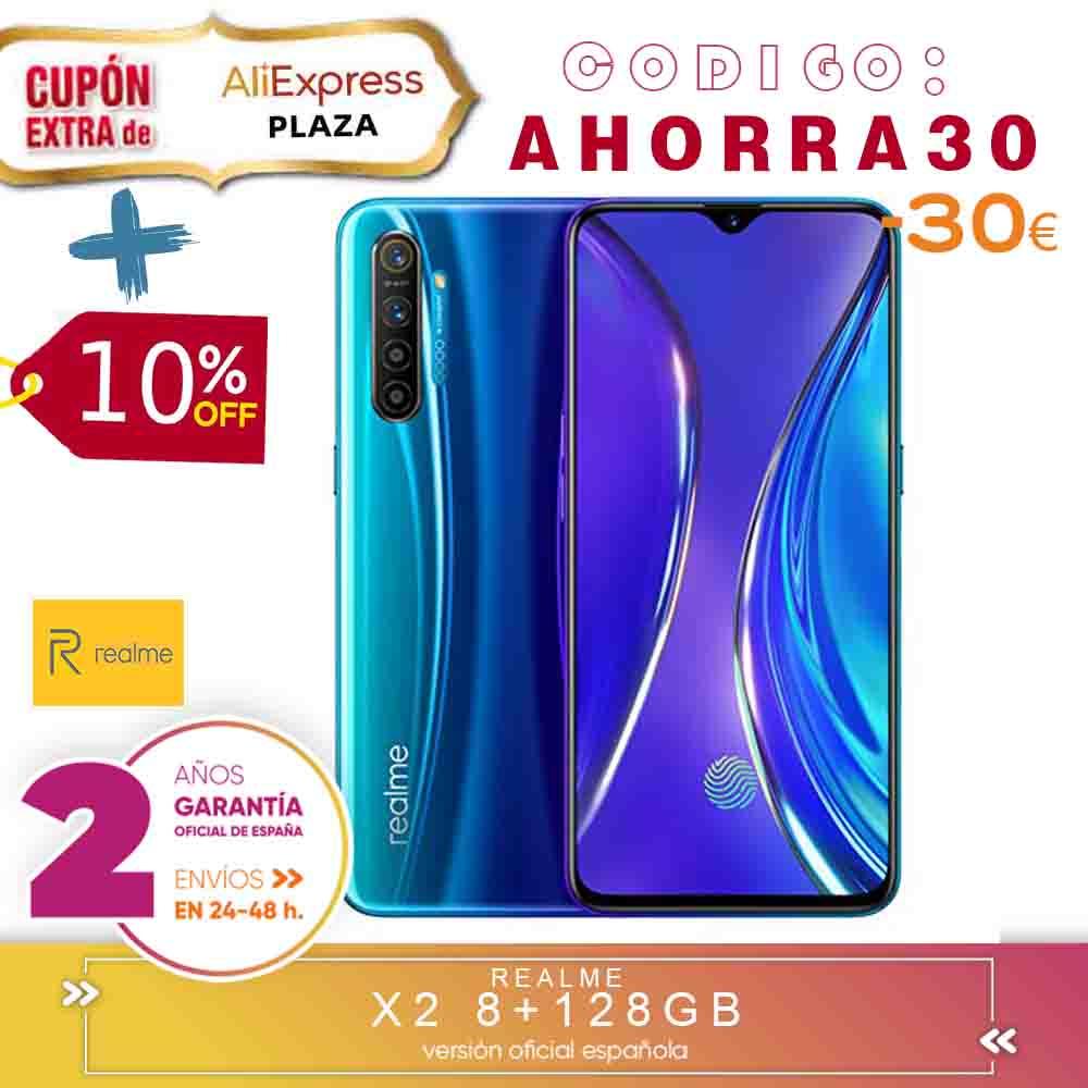 [Official Spanish Version Warranty] Realme X2 Smartphone Phone, 8 Gb Ram 128 Gb ROM 6,4 ''Snapdragon 730G 64MP Camera VOOC 30W