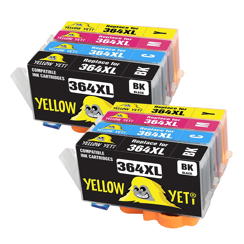 8pcs 364XL Compatible Ink Cartridge Compatible for <font><b>HP</b></font> <font><b>364</b></font> XL Photosmart 5510 5510 e-All-in-One5511 5512 5514 5522 image