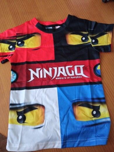 2020 Summer Anime 3D cartoon tee Baby Boy Clothes Kids lovely Ninja Clothes Ninjago t shirt Children Clothing Boy Girls shirt photo review