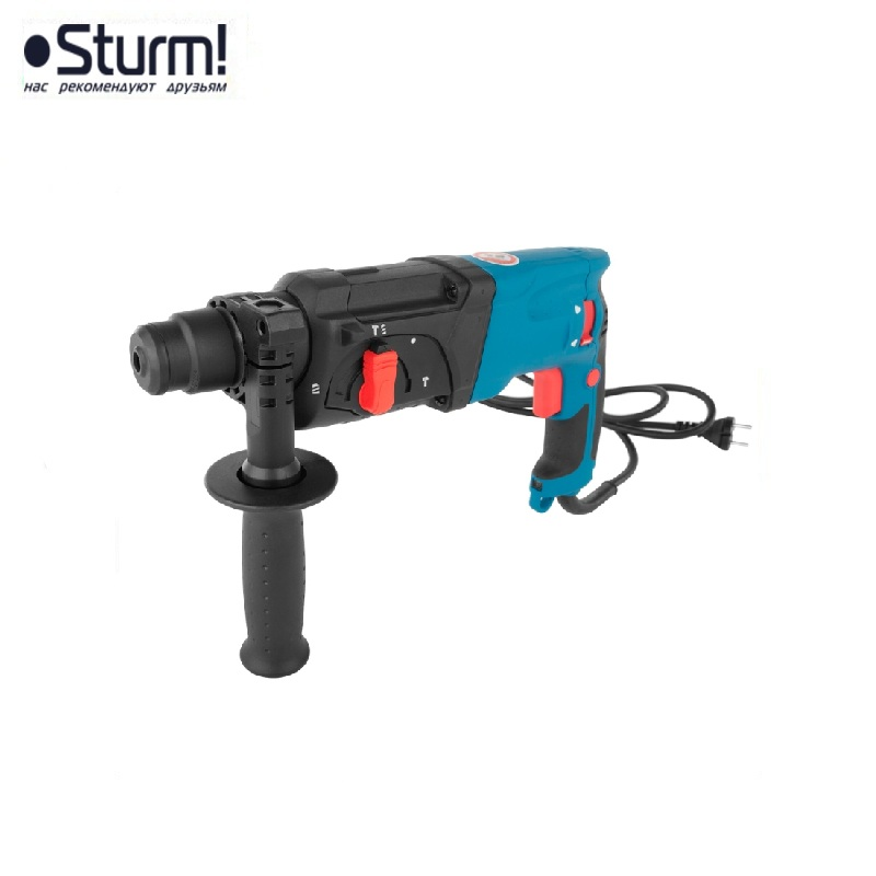 RH2510PM Sturm rotary hammer, prof, 1000 W, 0-4500 bpm, 0-1100 rpm, 3 modes, case Jackhammer Drilling and Grooving operation id2195p hammer drill pros sturm 1000 w 0 2700 rpm 0 45900 bpm percussion drill boring hammer drilling in concrete