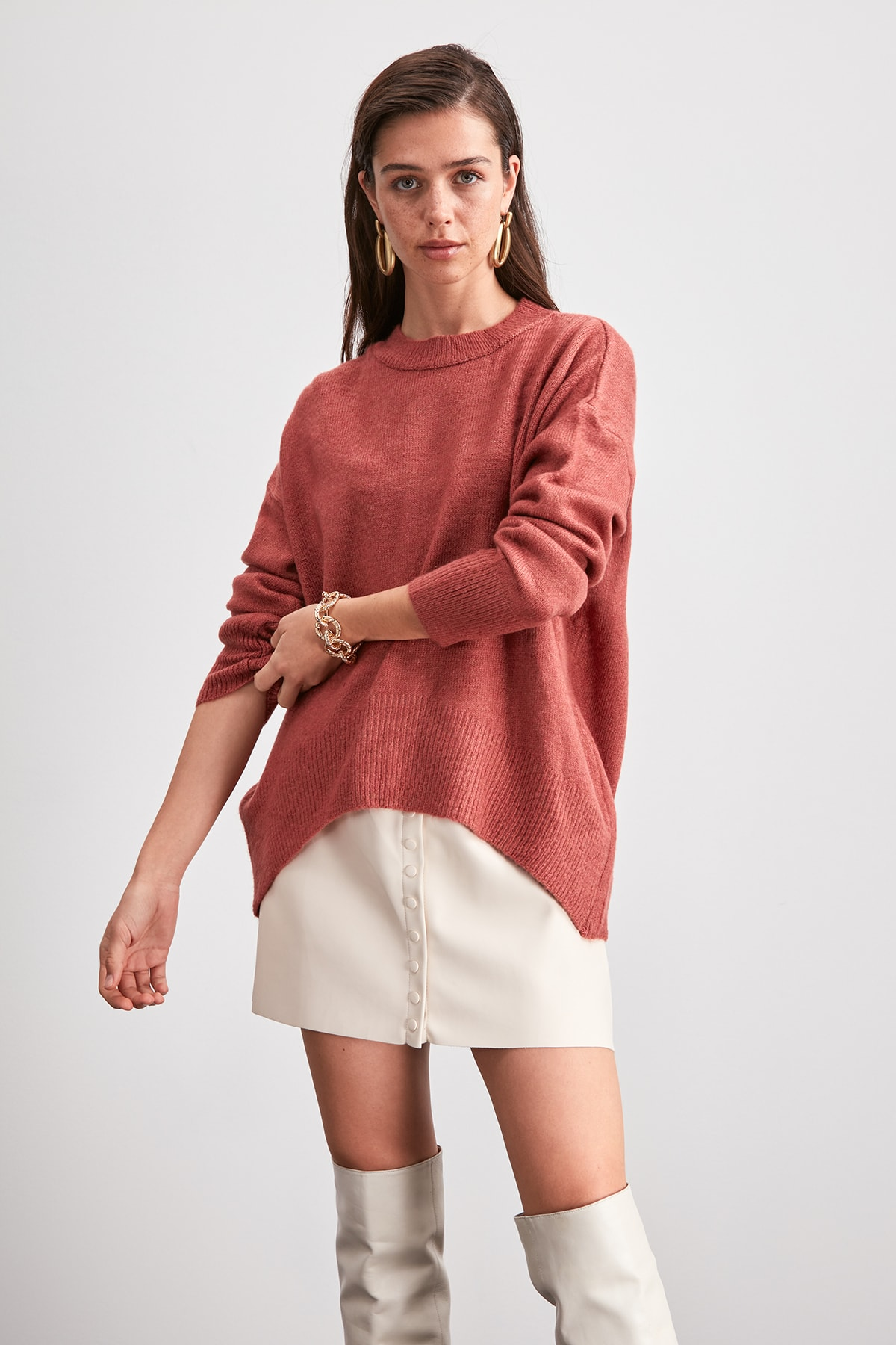 Trendyol Bike Collar Sweater Sweater TWOAW20KZ1500