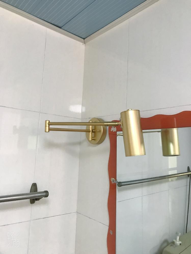 -- Lâmpada Parede Golden