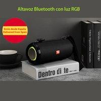 Altavoz Bluetooth RGB, Altavoces inalámbrico portátil,barra de Sonido,Compatible AUX, TF, USB, Subwoofer, ESTÉREO envio ESPAÑA
