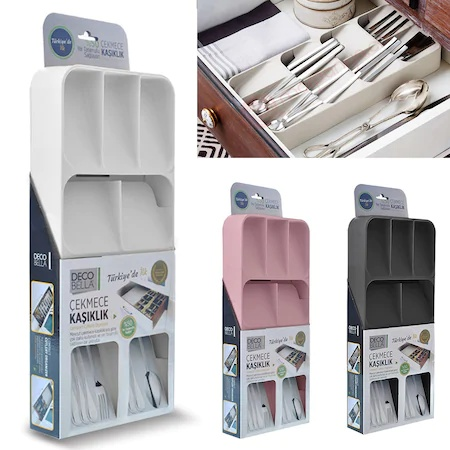 Cutlery Organizer Box Tray Store Organizer Drawer Kitchen Tools Fork Knife Plastic Spoon Stainless And Decoraions