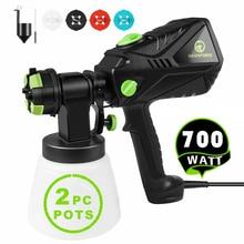 Sprayer Electric-Spray-Gun Hvlp-Paint Decorating Airbrush 4-Nozzle-Sizes Home 700W HAWKFORCE