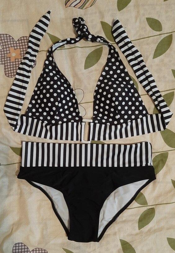 2020 New Sexy Bikinis Bandage Swimming Women Push Up Dot Swimsuit Plus Size Swimwear Women Bathing Suit Brazil Swim Beach Wear|Bikini Set|   - AliExpress