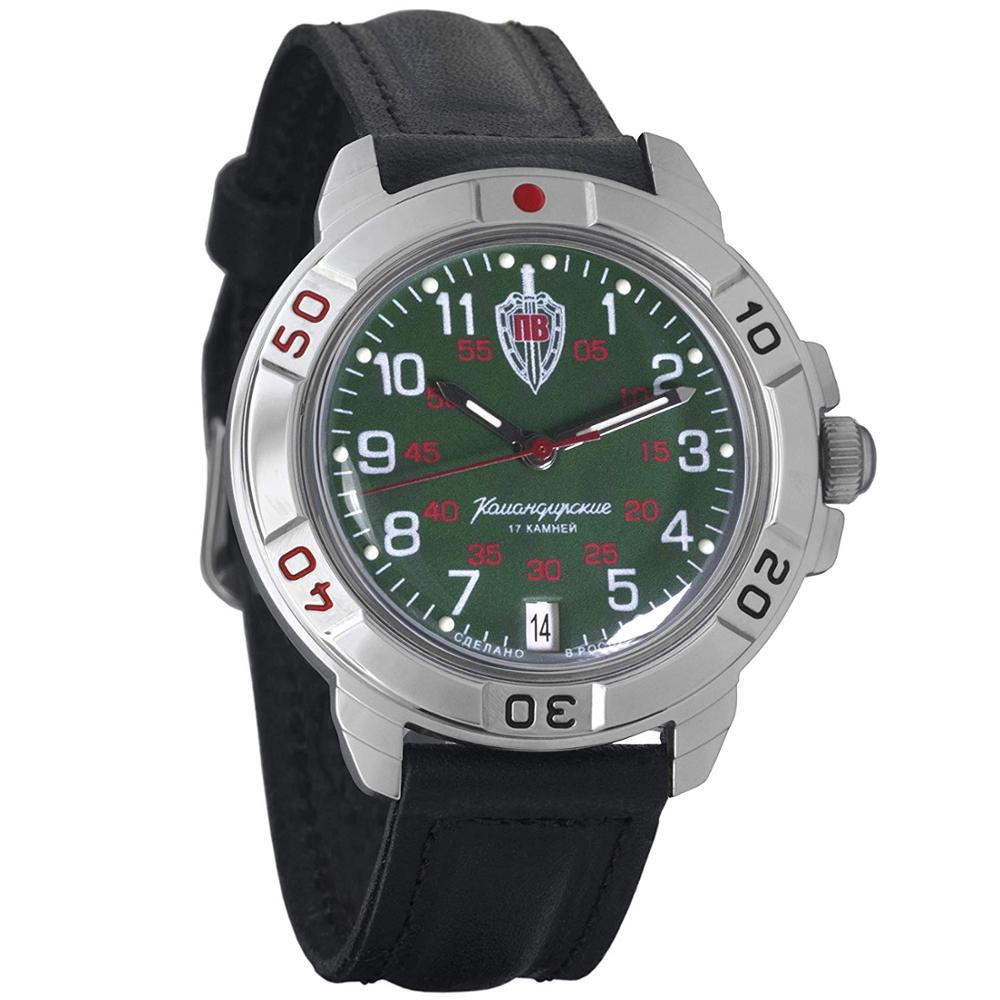 Watch Vostok Komandirskie 431950 Mechanical Men's Military Watch With Hand-winding Border Troops