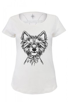 Angemiel Wear Lineal Terrier Cotton White Women 'S T-Shirt image