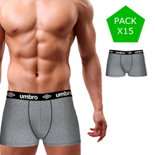 UMBRO pack 15 mens boxer shorts in variety of colors