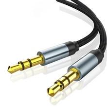 3,5mm Jack Audio Kabel Jack 3,5mm Stecker auf Stecker Audio Aux Kabel Für Samsung S10 Auto Kopfhörer Lautsprecher draht Linie Aux CordSpeaker