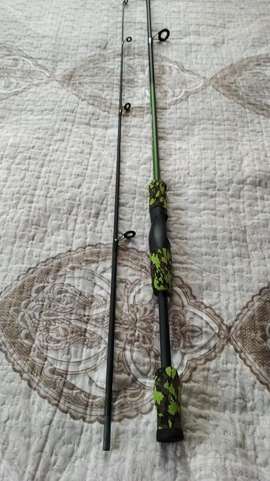 Varas de pescar Arremesso Camuflagem Portátil