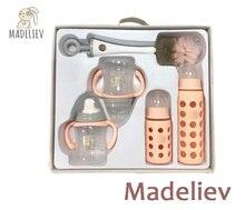 Madeliev Baby Feeding Cup Kit Bottle Gift Set Combo 5pcs/set