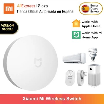 Xiaomi Mi Wireless Switch Interruptor Dispositivo Multifuncional para El Hogar Inteligente Versión Global Original